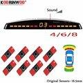 Koorinwoo LCD парктроника оригинальные 4/6/8 датчики 16 5 мм автомобильные Реверсивные радары детектор помощи при парковке радар оповещения