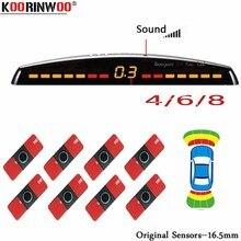 Koorinwoo LCD Parktronics Ban Đầu 4/6/8 Cảm Biến 16.5MM Xe Ô Tô Đảo Chiều Radar Báo Đỗ Xe Hỗ Trợ Radar Cảnh Báo