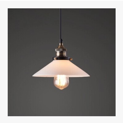 IWHD American Retro Vintage Lamp Loft Industrial Pendant Lighting Fixtures White Glass Lampshade Indoor Home Lighting glass lampshade retro pulley pendant light fixtures in style loft industrial lamp eidson indoor lighting