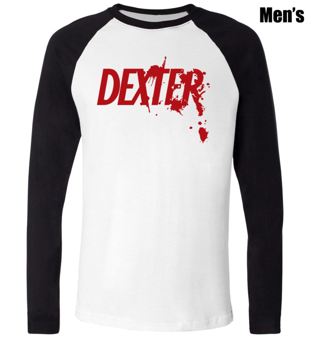 Design t shirt couple - Simple Style Dexter Series Serial Killer Red Symbol Design T Shirt Mens Boy S Graphic Tee Blue Or Black Sleeve Couple Clothes In T Shirts From Men S