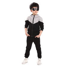 цена на Children Clothing Sets Spring Autumn Boys Sports Suit Hoodies Jackets+Pants 2 Pcs Kids Clothes Boys Tracksuit 4 6 8 10 11 Years