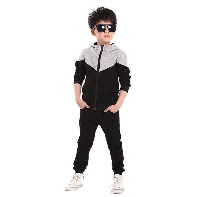 8fbe9678f Children Clothing Sets Spring Autumn Boys Sports Suit Hoodies Jackets+Pants  2 Pcs Kids Clothes Boys Tracksuit 4 6 8 10 11 Years