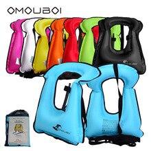 Бесплатная доставка Прочный жилет безопасности жизнедеятельности OMOUBOI ребенок/взрослых подводное плавание Серфинг Плавание ПФО плавучесть помощь надувные плавающей жилет