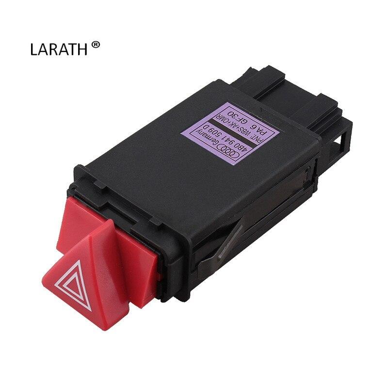 imágenes para Larath nuevo para audi a3 a4 b5 a6 c6 8d0941509h interruptor de advertencia de peligro de luz intermitente del relé