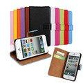 Carteira de couro case para iphone 7 7 plus telefone coque capa de luxo para iphone case em 4 4S 5 5S se 5c 6 6 s flip casos capa fundas