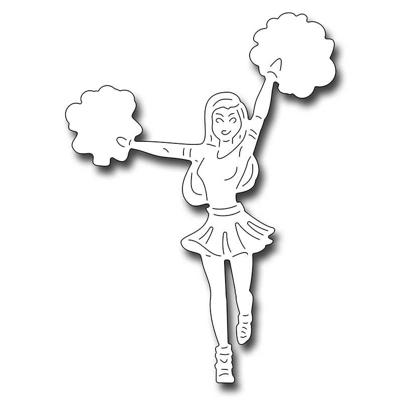 Cheerleader cut out template