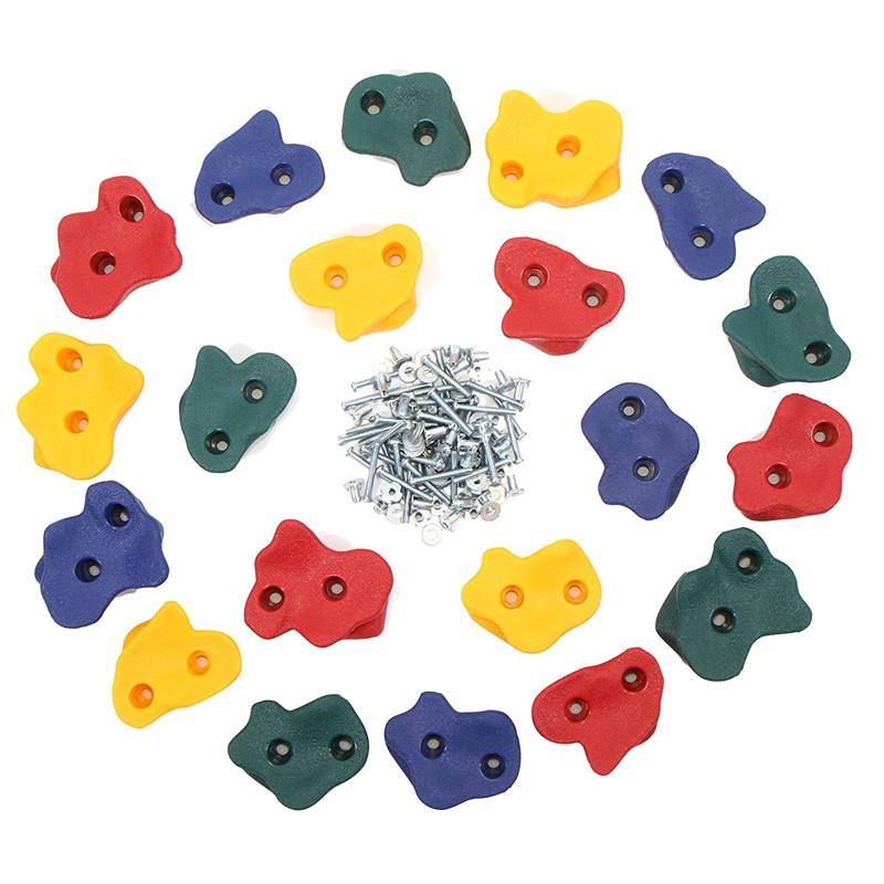 20 Rock Climbing Wall Holds With Screws For Children Indoor And Outdoor Playground Climbing Wall For Kids Children Play Sport kids soft playground climbing a software package soft play equipment