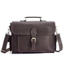 Портфель мужской из натуральной кожи наплечная сумка через плечо