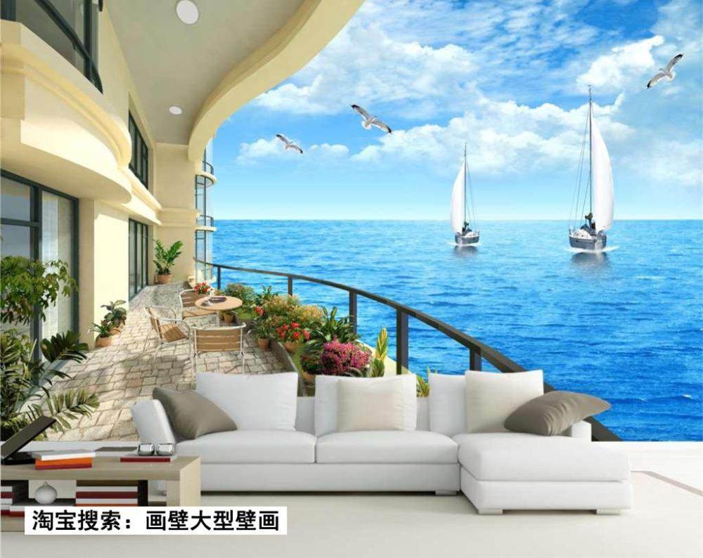 Aliexpress.com : Buy Beibehang Custom 3d Photo Wallpaper Silk Cloth Wall  Paper Bedroom Ocean Sky Ocean Beach Papel De Parede 3d Wall Mural Wallpaper  From ...