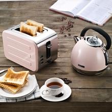 Автоматический мини-тостер для общежития из нержавеющей стали, домашний тостер, 2 предмета, машина для завтрака