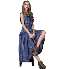 denim women's tassel lady