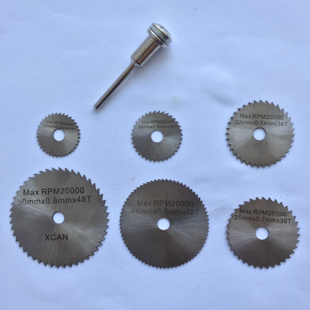 6pcs K160Y Mini 22-50mm HSS Steel Circular Saw Blades Set For Cutting