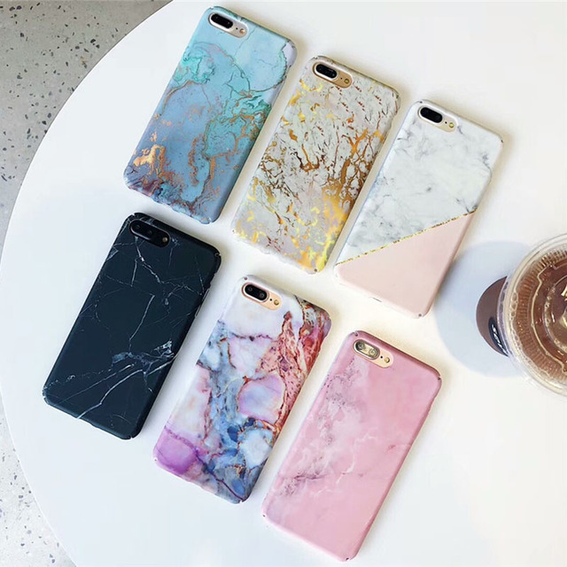 quality design 87b80 f3eb8 US $1.79 20% OFF|Hard PC Marble Case for iphone XS Max XR X 10 Fashion  Green Leaves Full Cover Matte Phone Cases for iphone 7 7plus 6s 6 8 plus  -in ...