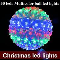 AC110/220 V cambiamento di colore RGB 50 LED sfera di Luce Colorata Christmas Party di natale Decorazione Luci LED di Trasporto Libero