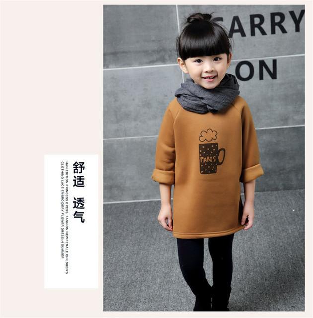 2017 inviernos Del Otoño engrosamiento marrón conjuntos de etiqueta privada de café de lana respaldo de manga larga T-shirt ropa superior sin forro