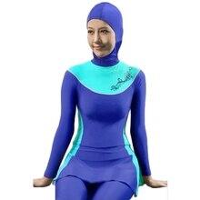 Women swimsuit plus size Muslim Swimwear high waist swimsuit swimwear women bathing suits maillot de bain women trajes de bano