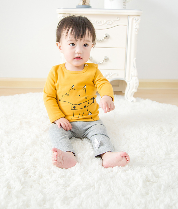 2017 Toddler Kids Baby Boys Girls Infant spring Autumn Long Sleeve cartoon Fox T-Shirt Tops Clothing Cotton cloud rain T-Shirts (33)
