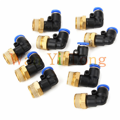 3/8 6mm Elbow Fitting BSPT Pneumatic Connectors Easy Disassembly Pack of 10 pack of 600 0 6mm