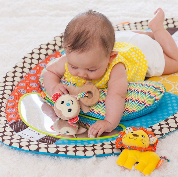 sozzy colorful baby play mat changing pad with stuffed animal pillow safety mirror early education toy in play mats from toys hobbies on aliexpresscom