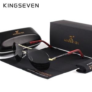 KINGSEVEN Men Vintage Aluminum Polarized Sunglasses Classic Brand Sun glasses Coating Lens Driving Eyewear For Men/Women(China)