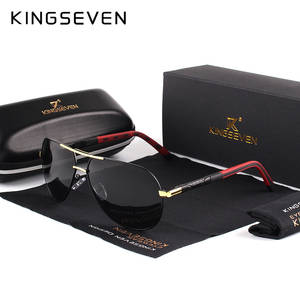 KINGSEVEN Polarized Sunglasses Shades Driving Classic Coating Vintage Aluminum Men Brand