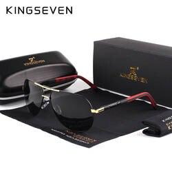 KINGSEVEN для мужчин винтаж алюминий поляризационные солнцезащитные очки для женщин классический бренд Защита от солнца очки покрытие