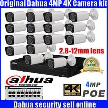 Dahua 16CH 5MP POE Kit POE NVR4216-16p-4ks2 4mp POE IP Camera IPC-HFW431R-Z P2P Cloud Service CCTV System Video Surveillance