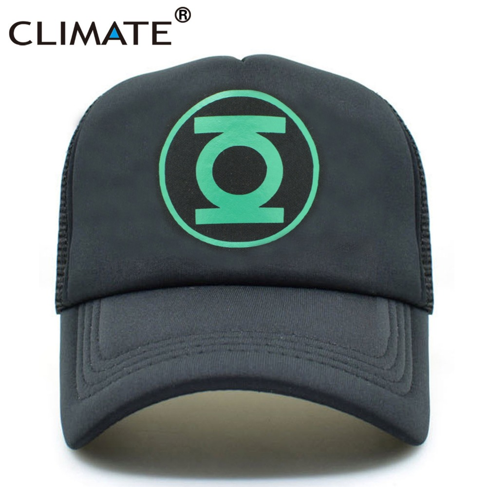 5612f0f8862 CLIMATE Green Lantern Trucker Caps Men Women The Big Bang Theory Fans  Baseball Cap Hero Mesh Trucker Caps Hats for Men Women