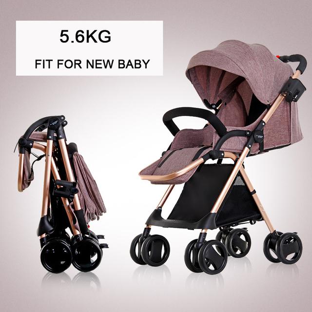 0-36 M Do Bebê Carrinho de bebé Carrinho De Carrinho De Criança 5.6 kg Leve Cadeira De Rodas Dobrável de Viagem Com Apoio Para Os Pés melhor do que yoya