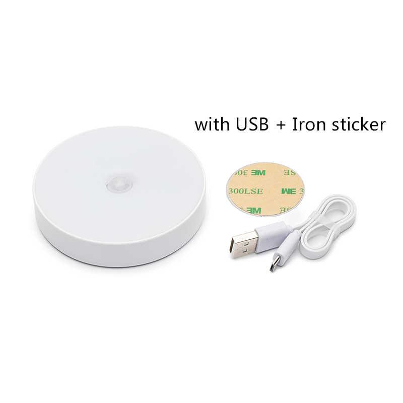 6 светодиодов датчик движения ночник Авто Вкл/Выкл беспроводной настенный светильник Магнит USB Перезаряжаемый для спальни ЛЕСТНИЦЫ шкаф