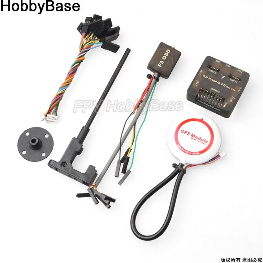 SP Pro Racing F3 Deluxe/Acro kontroler lotu + Mini GPS M8N Pixrace + CF OSD dla QAV250 QAV210 250 280 210 180 Quadcopter w Części i akcesoria od Zabawki i hobby na  Grupa 1