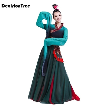 2020 chinese classical dance clothes hanfu ancient costume fairy water sleeves hanfu Classical Dance Costumes Performance