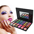 Pro 78 Color Combo Makeup Palette Glitter Matte Neutral Eyeshadow Palette Lip Gloss Blusher Portable Smokey Stage Cosmetic Set