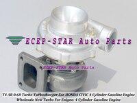 Turbo universal t4 ar 0.68 turbocompressor de turbina para civic para toyota motor a gasolina de 4 cilindros