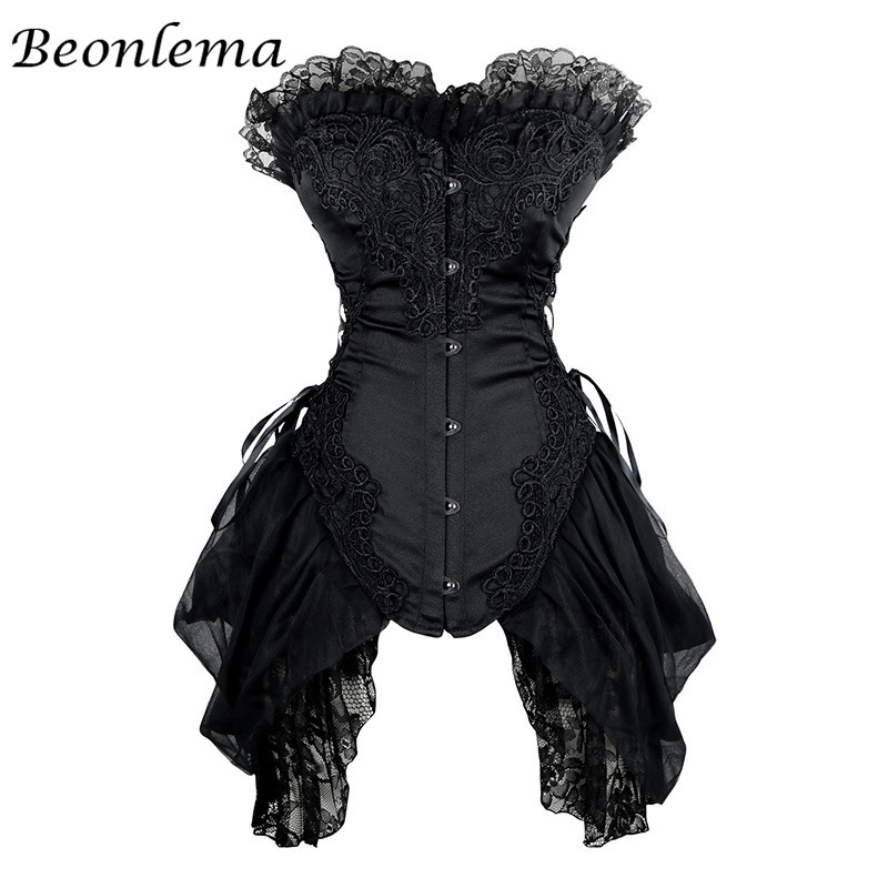 Corset Sexy Dress Lace Corsets and Bustiers Corselet Gothic Cosplay Korset Waiste Trainer Gorset Tops Plus Size XS-6XL
