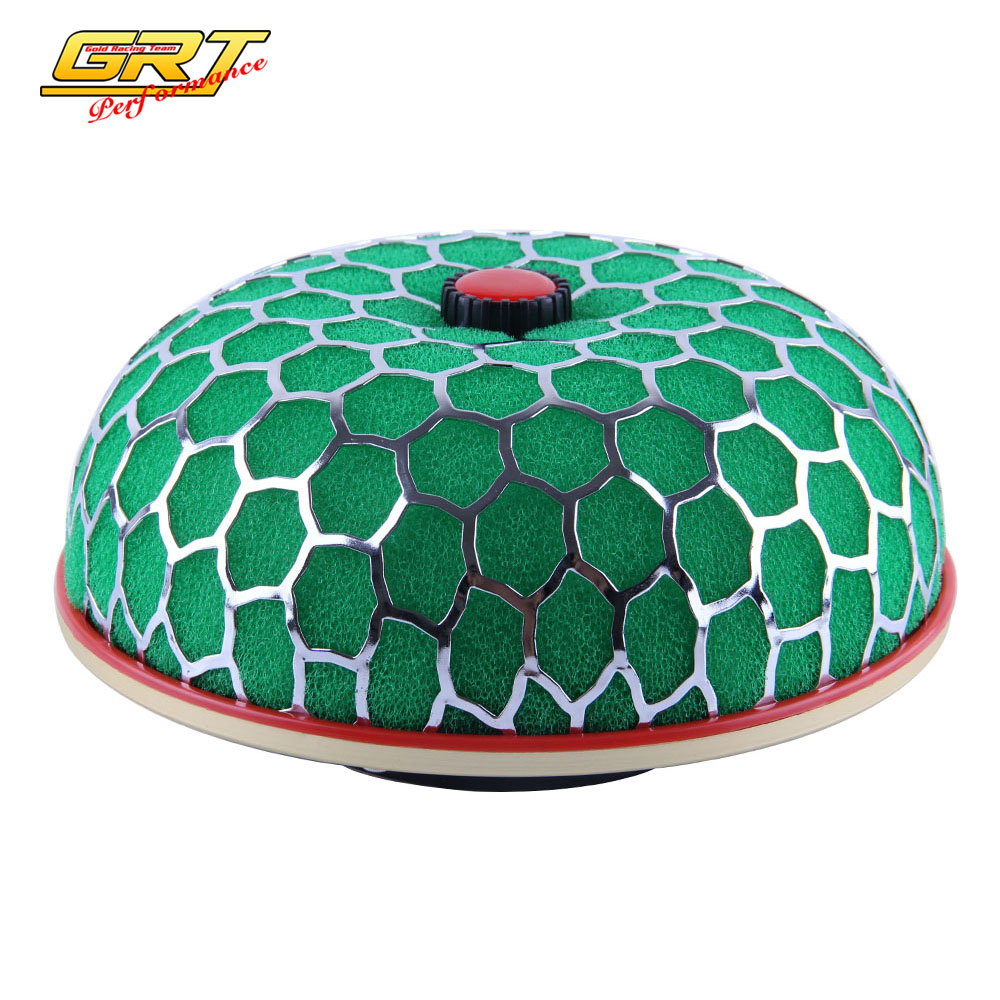 Universal Air Filter cleaner Intake Kit Super Power Flow 100MM Green AY For <font><b>VW</b></font> <font><b>GOLF</b></font> GTI <font><b>MK3</b></font> <font><b>VR6</b></font> 2.8 V6 94-98 N-AF002A image