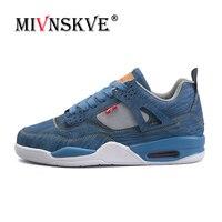 MIVNSKVE Nowy 2018 męskie Buty Jordan Buty Denim Tkaniny działający Buty Męskie Sneaker Zewnątrz Bojowe Buty Sportowe Buty Sportowe