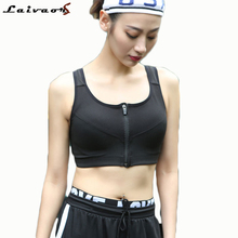 5XL Plus Size Women Sports Bra Running Front Zipper Movement Yoga Padded Fitness Vest Tops Cycling Workout Clothes Underwear