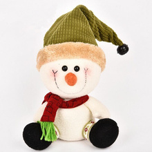 Christmas Snowman Doll Table Sitting Posture Decoration Christmas Home Decoration Doll Green/Red Snowman Christmas Gift 2 Colors