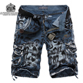 2016 Summer Loose outside Casual Cargo Shorts Male Camouflage Casual Shorts Military Multi-pocket Male Tooling Shorts