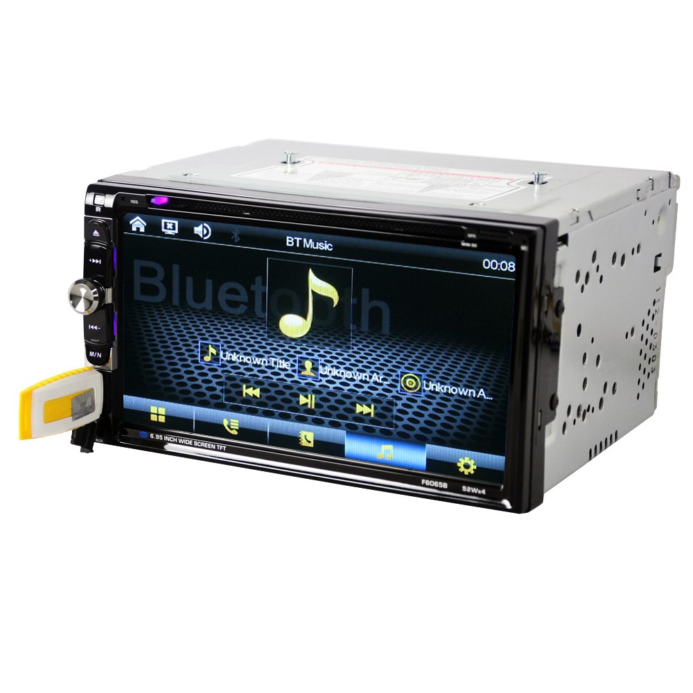 """Image 3 - 6065B Universal 2 Din Car DVD player 6.95"""" Car Autoradio Video/Multimedia MP5 Player mp4 Car Stereo audio player car DVD-in Car CD Player from Automobiles & Motorcycles"""