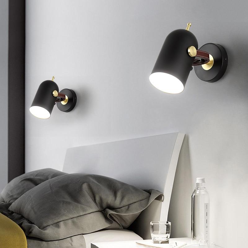 где купить Postmodern minimalist art wall lamp Scandinavian creative bar bedroom hallway entrance lamp personality design club wall lamp LE по лучшей цене