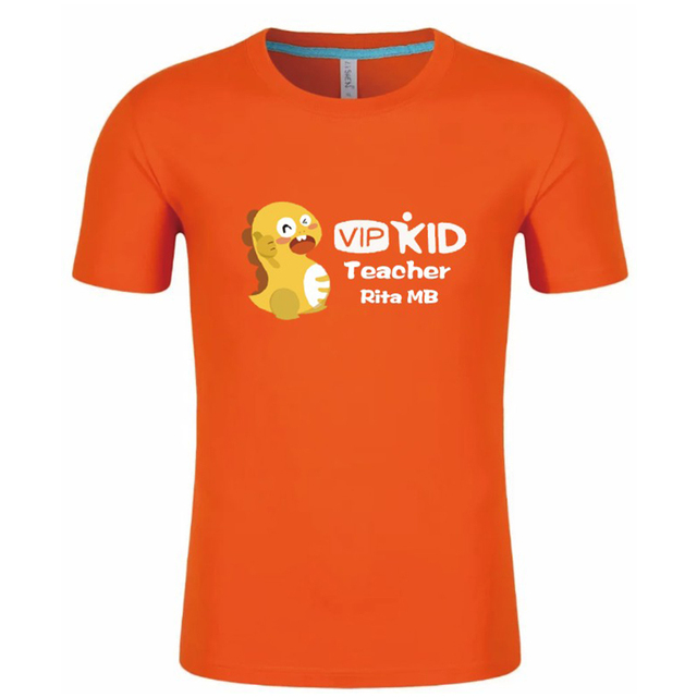 Us 15 2 Custom Made Vipkid Teacher Dino T Shirts Personalized Name Print In Special Order In Tees From Mother Kids On Aliexpress Com Alibaba