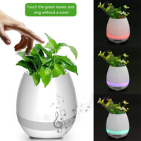 Bluetooth Speaker Flower Plant Box Smart Music Pot With Colorful Nightlight LED Light Touch Control Piano