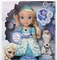 Disney Brinquedos Para As Crianças Brinquedos Filme de Desenhos Animados Para Crianças Bonito Dos Desenhos Animados bebê Bonecas Congelados Brinquedos Bonecas Princesa Elsa Com Som E Luz