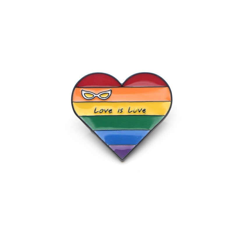 V138 Pangeran Kecil dan Fox Bunga Sakura Logam Enamel Pin dan Bros untuk Wanita Rainbow Jantung Gay Kerah Pin Ransel lencana