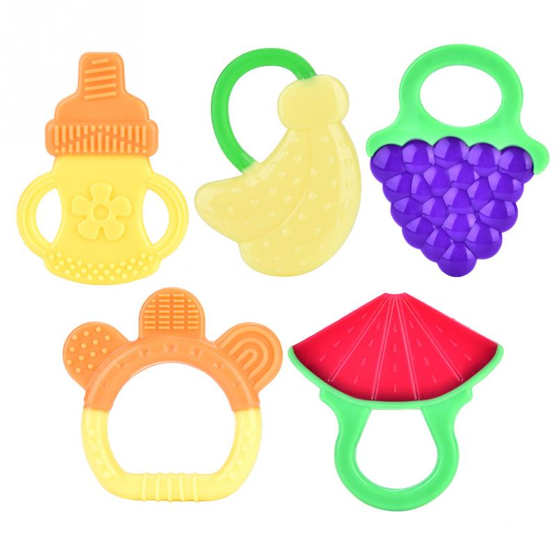 Baby Fruit Banana Toothbrush Teethers Toys for Infant Silicone Training Teething