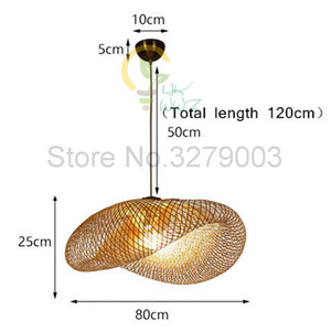 Image 5 - Southeast Asian Handmade Bamboo Weaving Rattan Art Pendant Lights Personality Restaurant Hotel Coffee Hanging Lamps Fixture