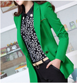 spring new fashion women leisure professional office small suit long sleeve pure color big yards High quality thin coat D-0365