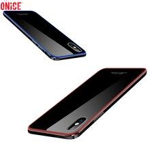 Coque สำหรับ iPhone X iPhone 8 พลัสกรณีหรูหราโลหะอลูมิเนียมกันชนโทรศัพท์กรณีสำหรับ iPhone X 10 6 6 วินาที 7 8 พลัสกรณีครอบคลุม Funda